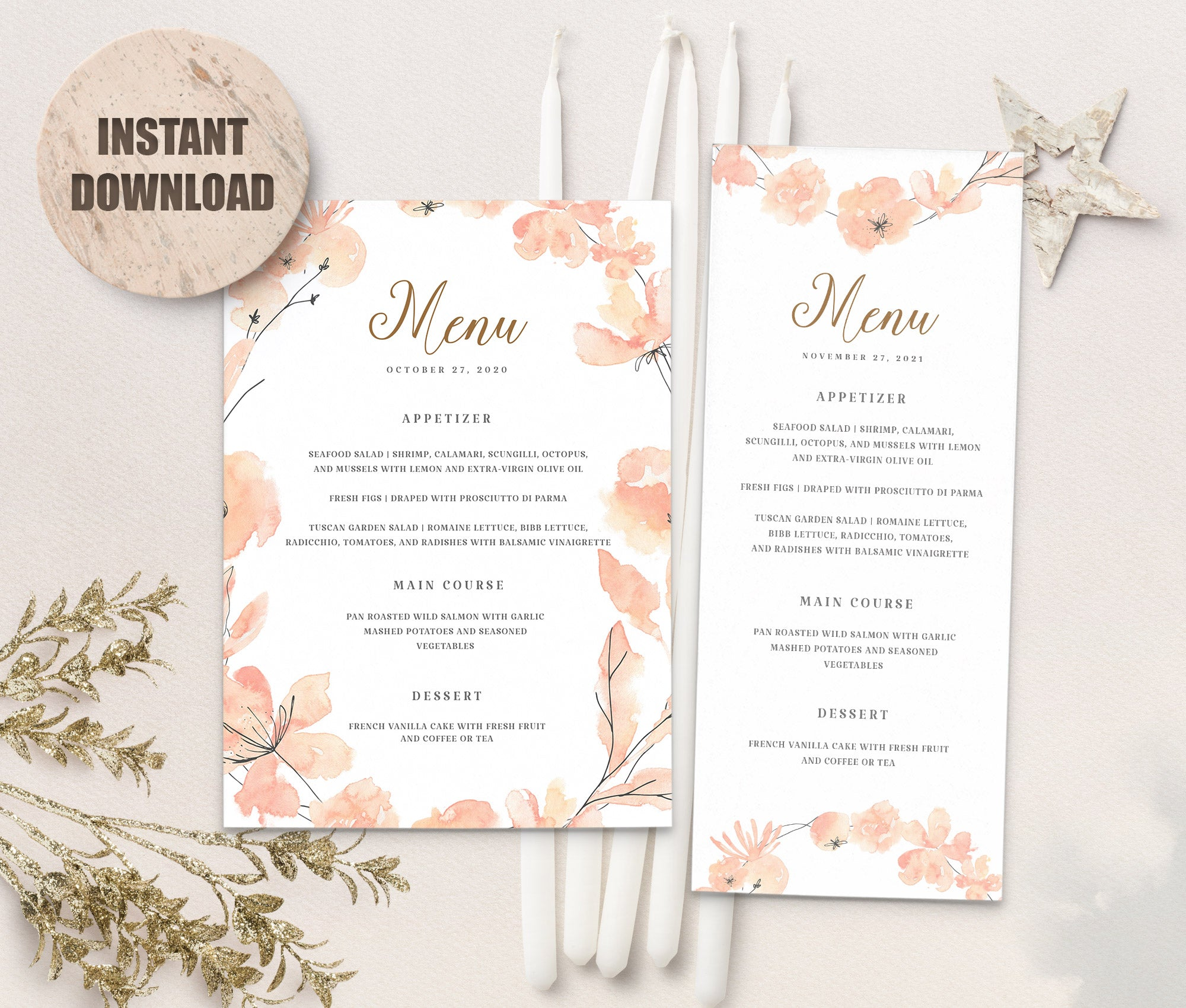 LOVAL Menu Template set 10