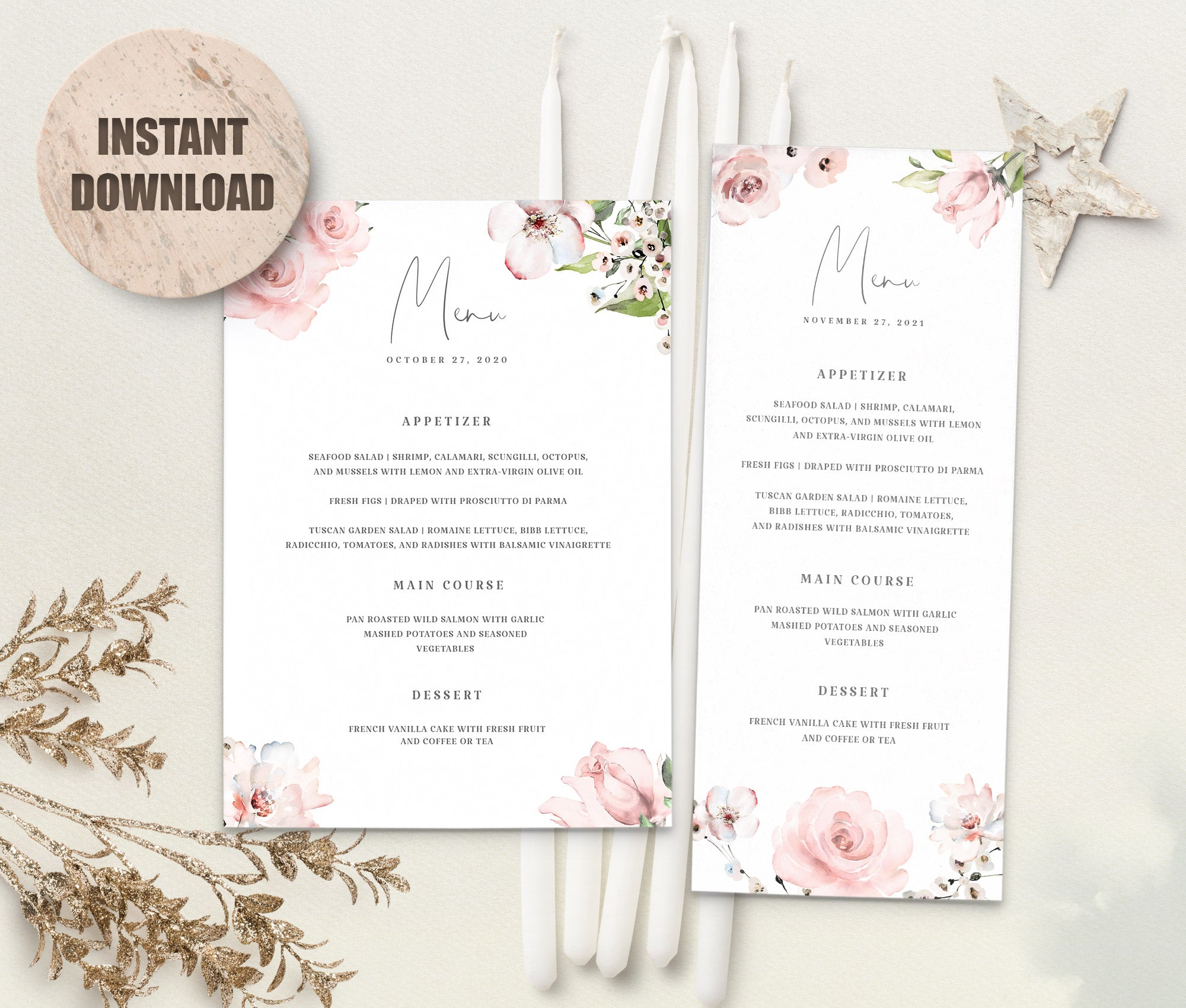 LOVAL Menu Template set 1