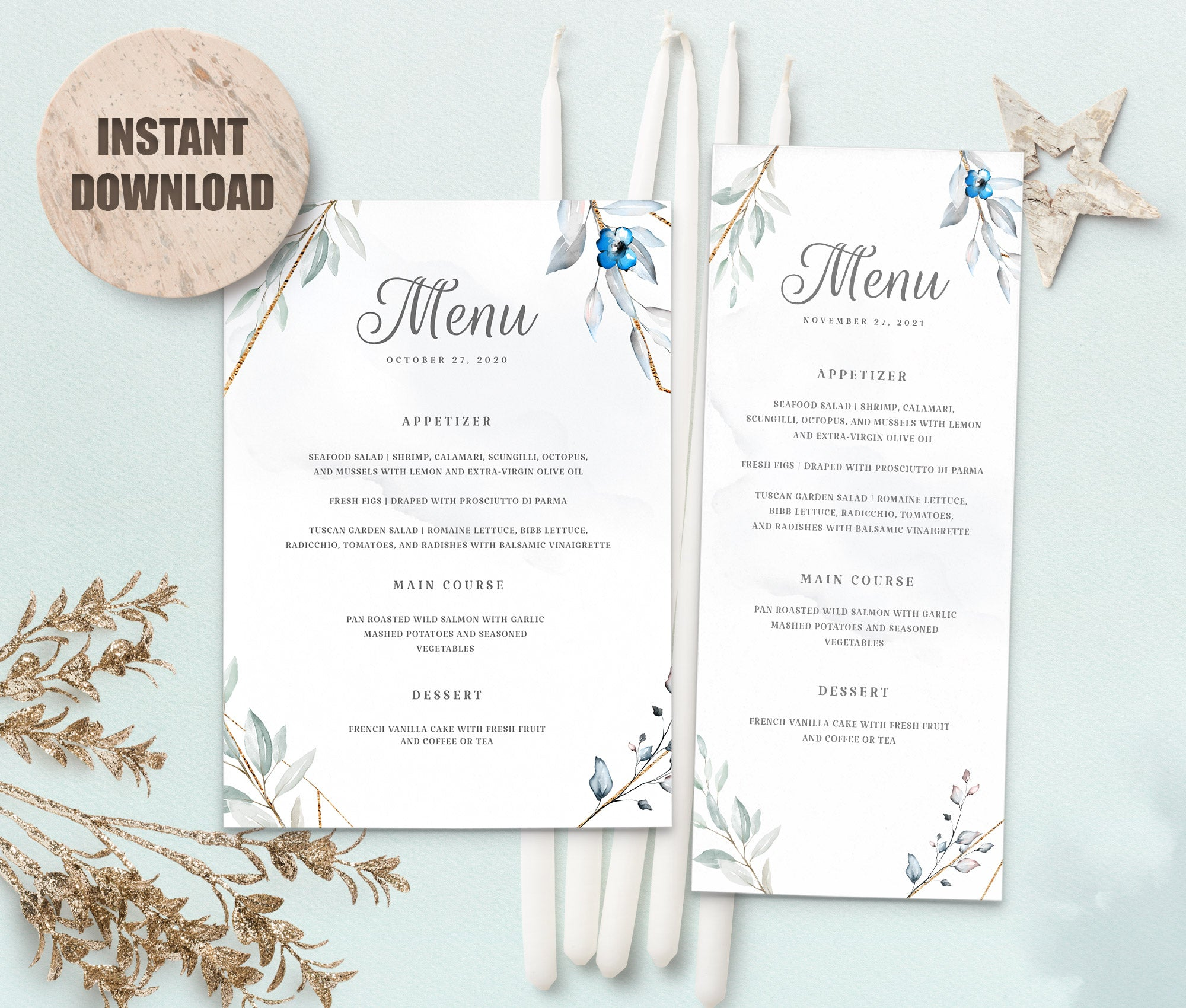MELLY Wedding Menu Template