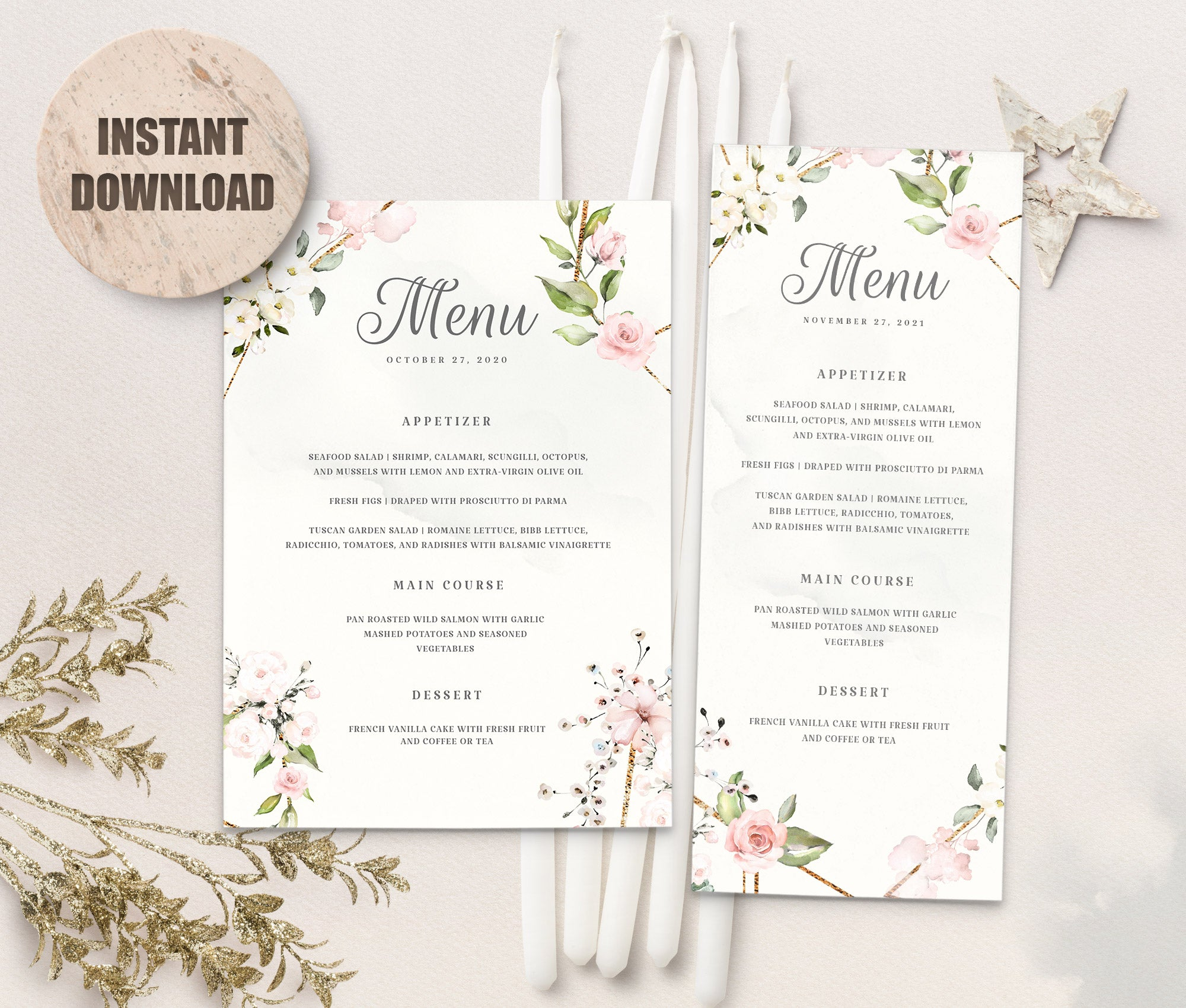 LOVAL Menu Template set 7