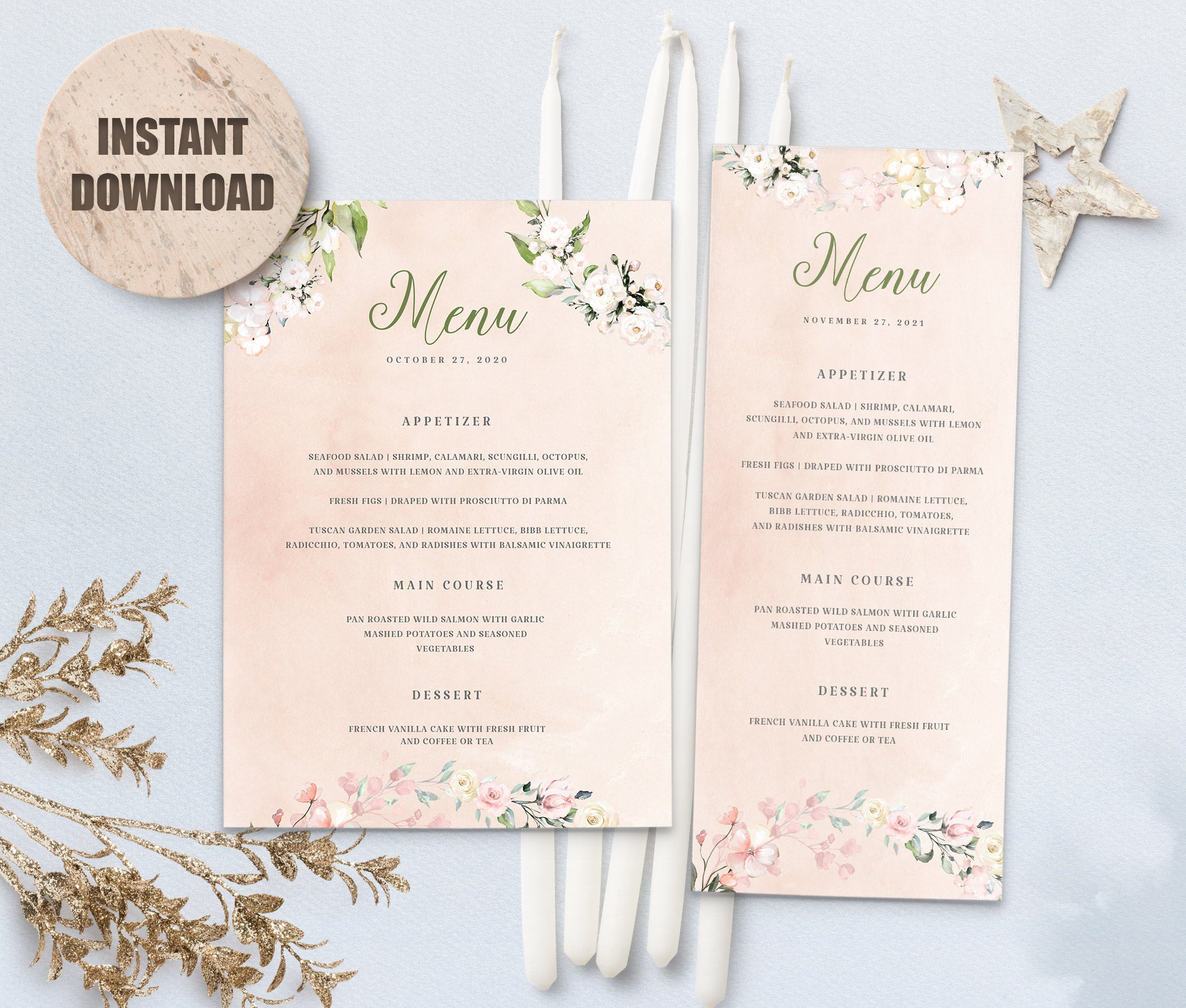 LOVAL Menu Template set 5