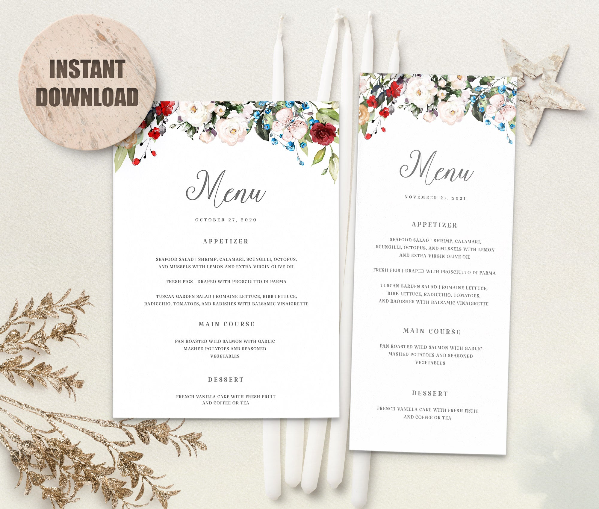 LOVAL Menu Template set 4