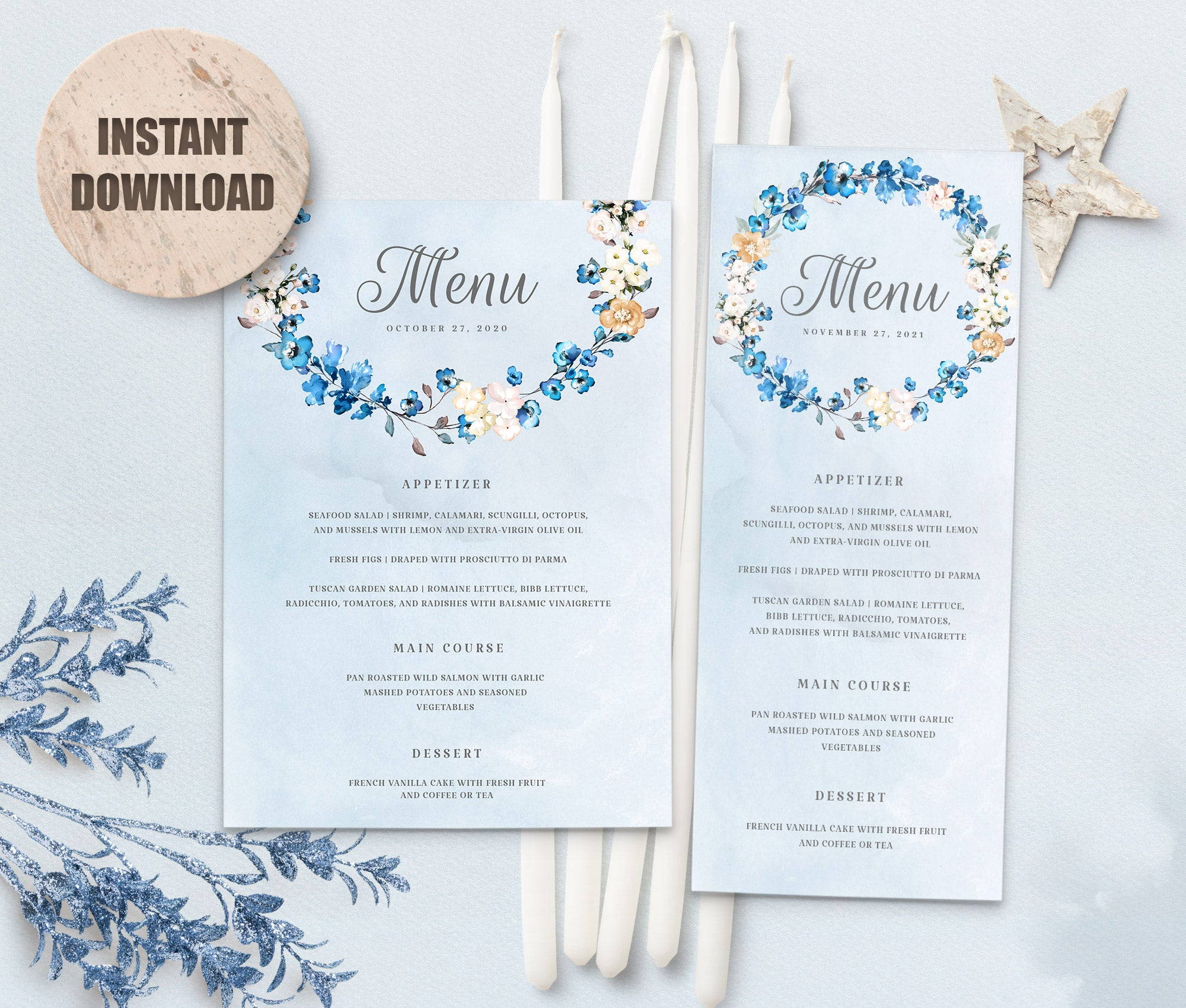 MELLY Wedding Menu Template set 2