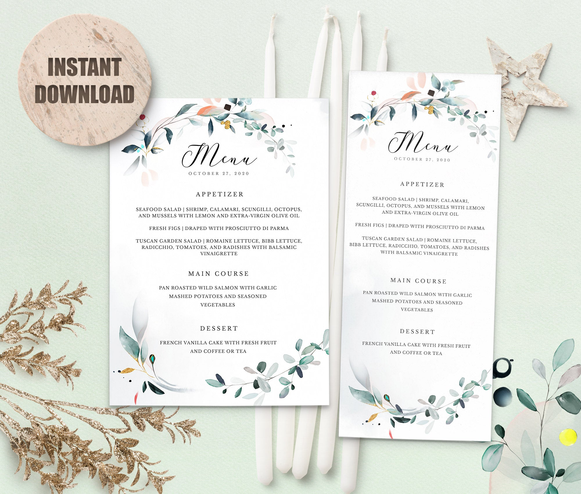 SPMR - Menu set 8 - Greenlanderdesign