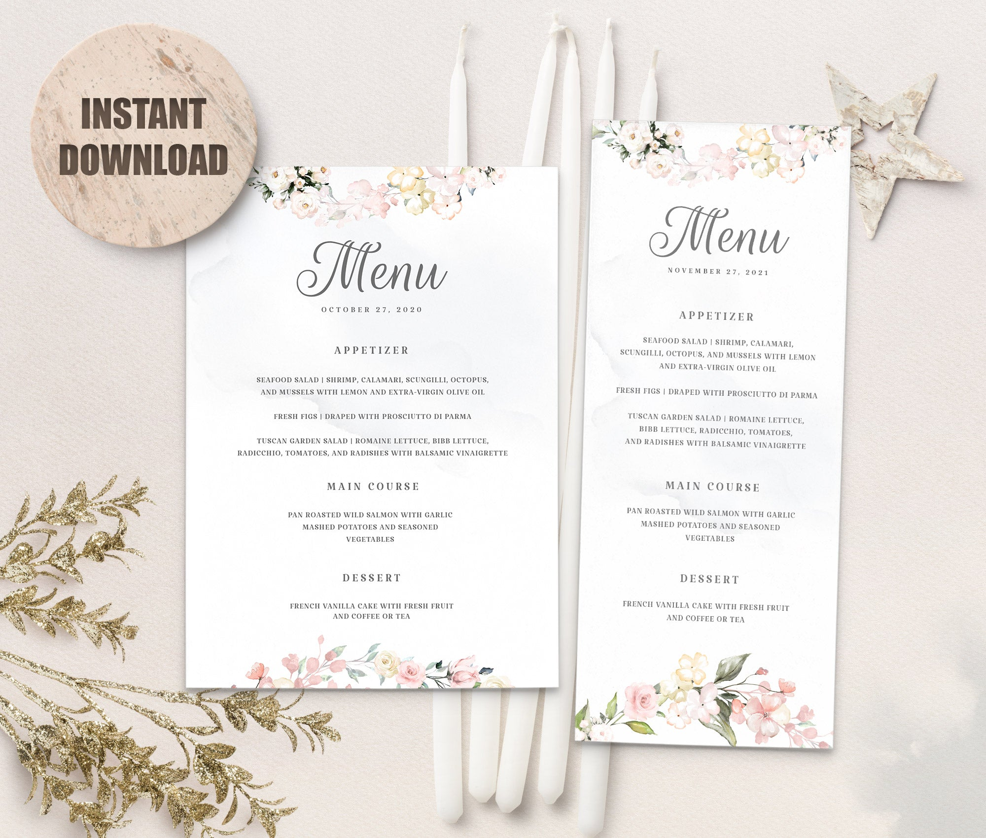 LOVAL Menu Template set 8