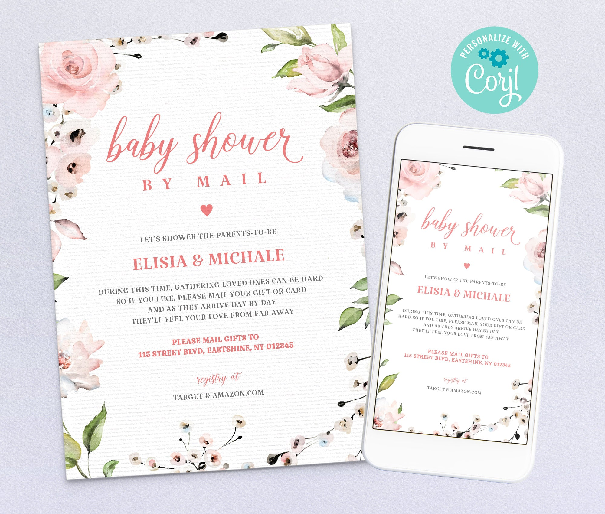 Baby Shower by Mail Invitation 4