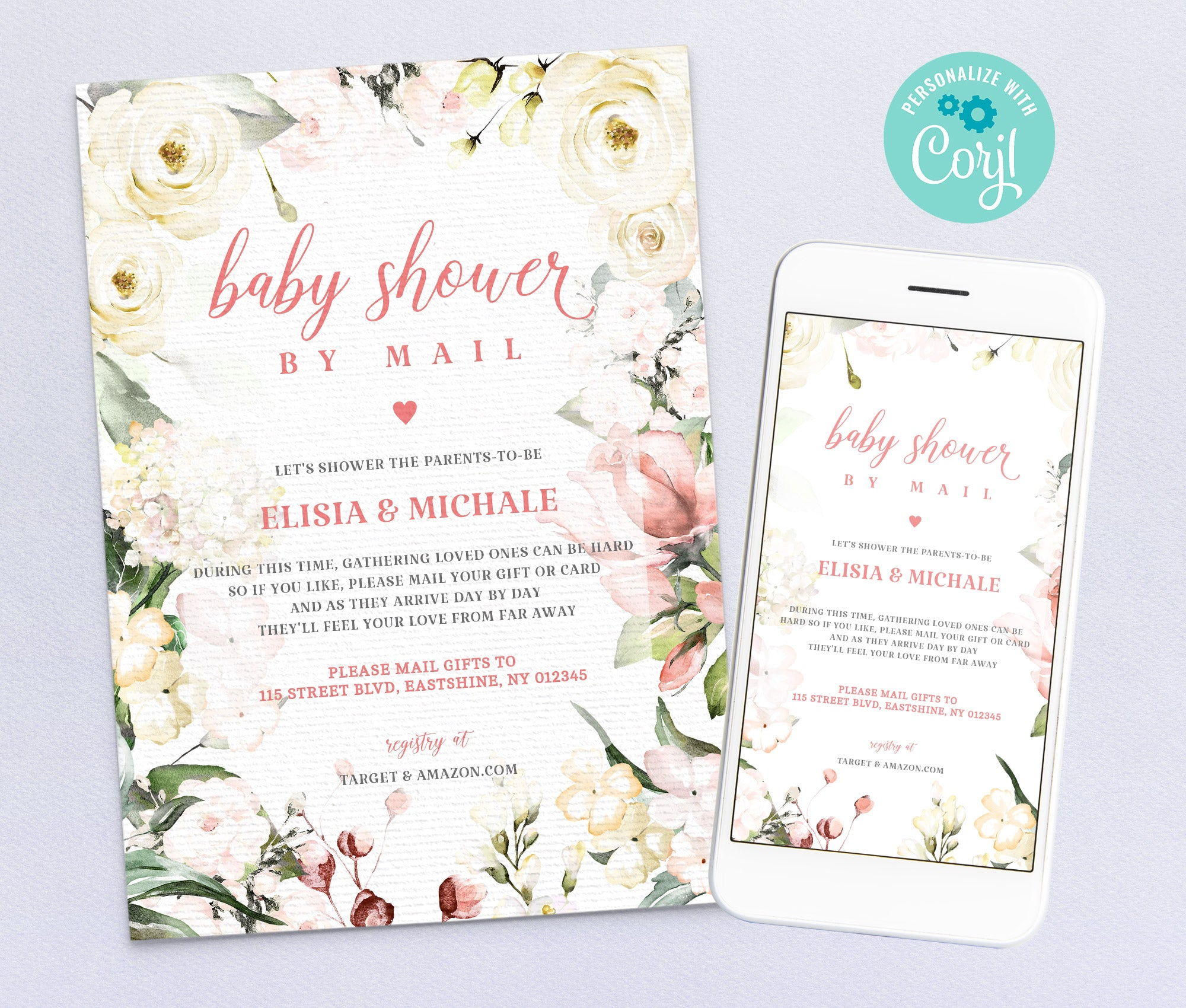 Baby Shower by Mail Invitation 5