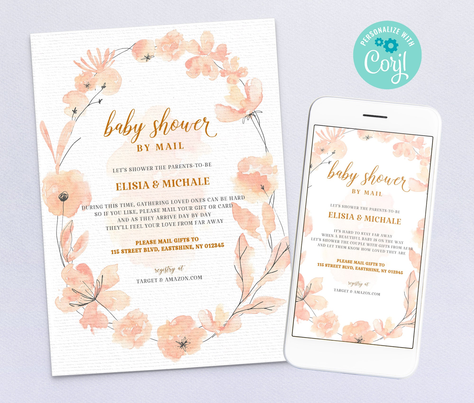 Baby Shower by Mail Invitation 3