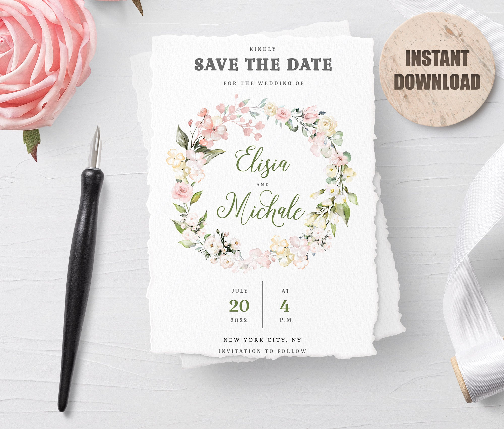 LOVAL Printable Save the Date Card set 6