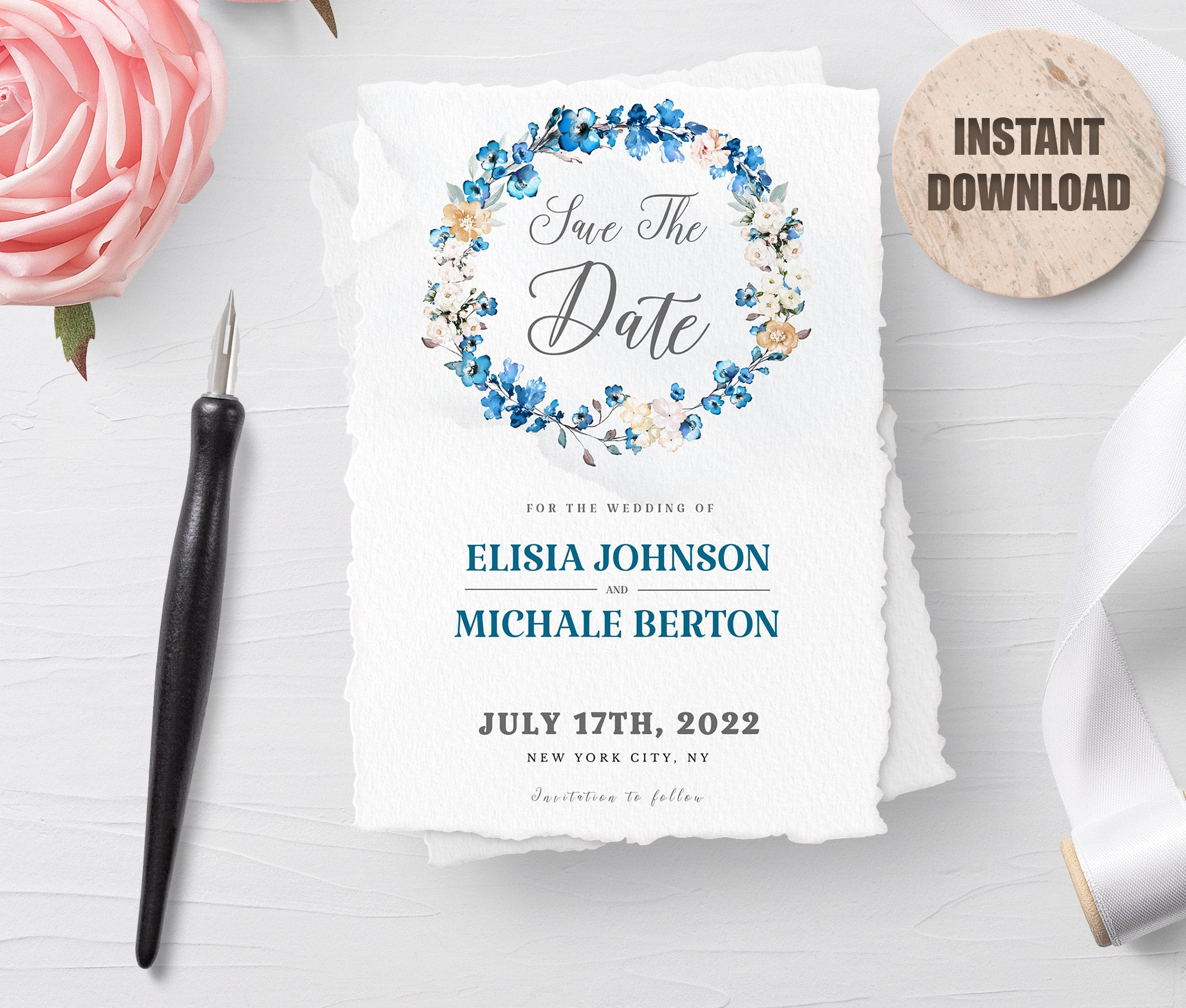 MELLY - Printable Save the Date Card 3