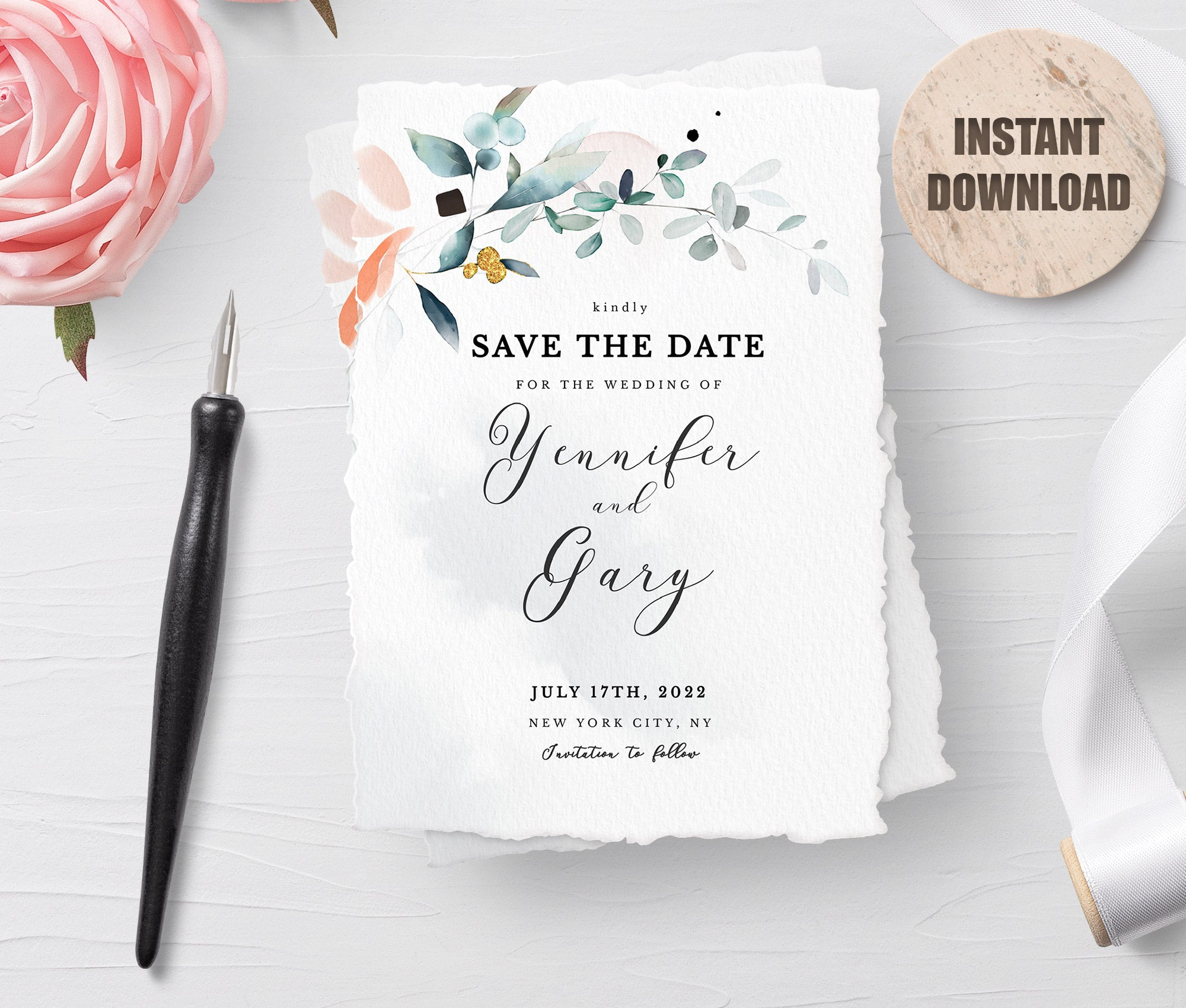 SPMR - Printable Save the Date Card set 9 - Greenlanderdesign