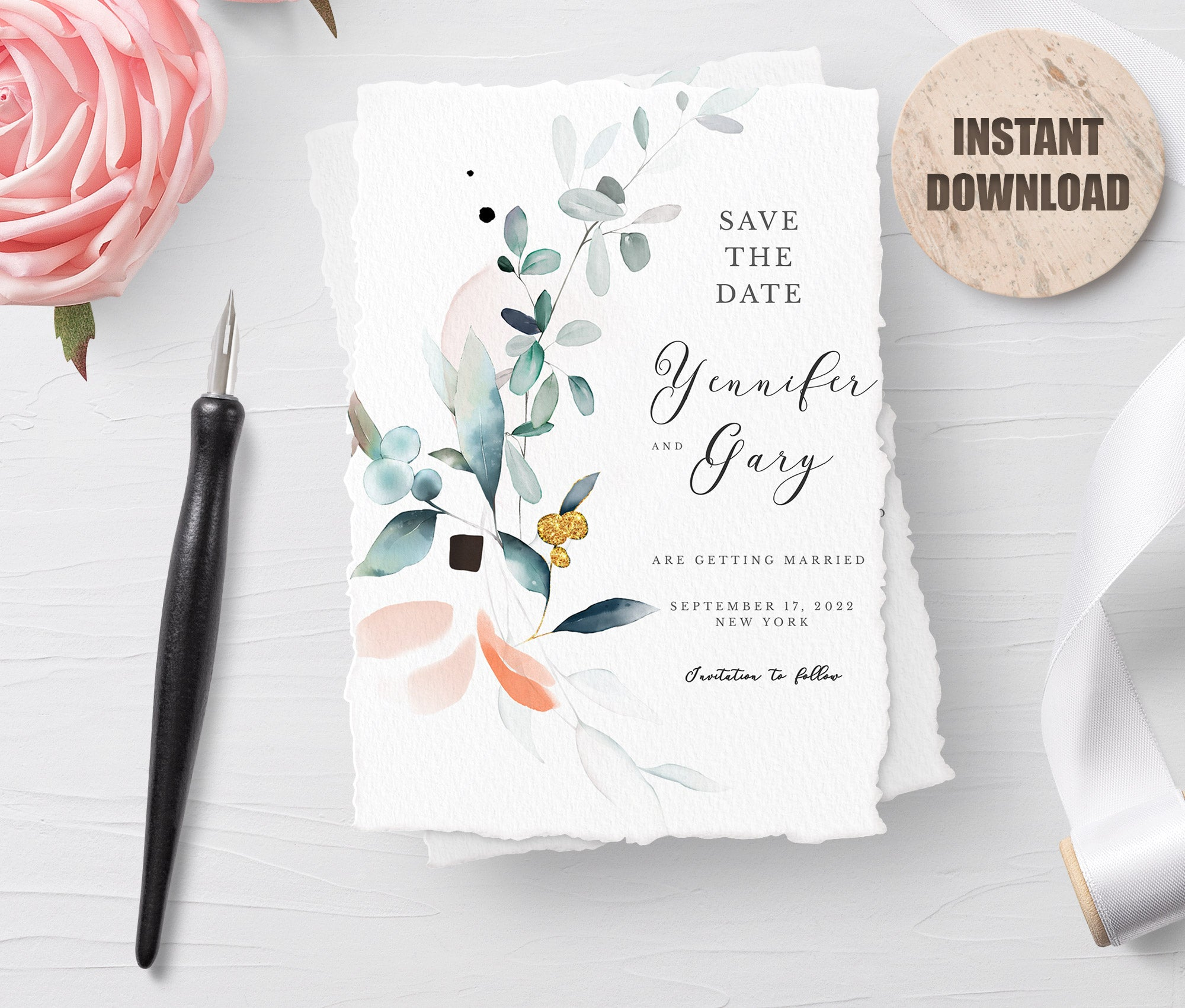 SPMR - Printable Save the Date Card set 5 - Greenlanderdesign