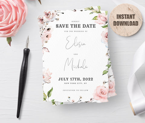LOVAL Printable Save the Date Card set 1