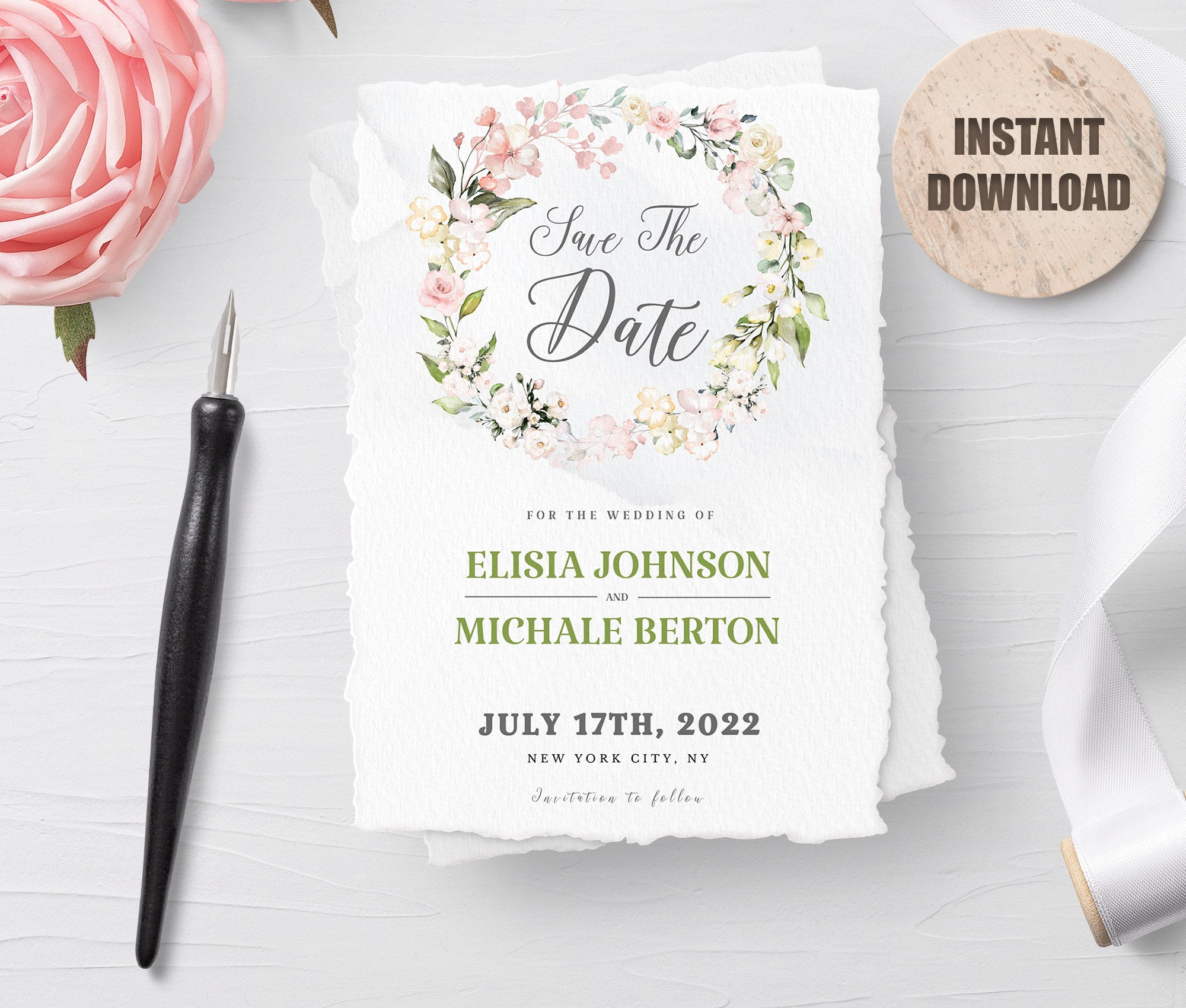 LOVAL Printable Save the Date Card set 8
