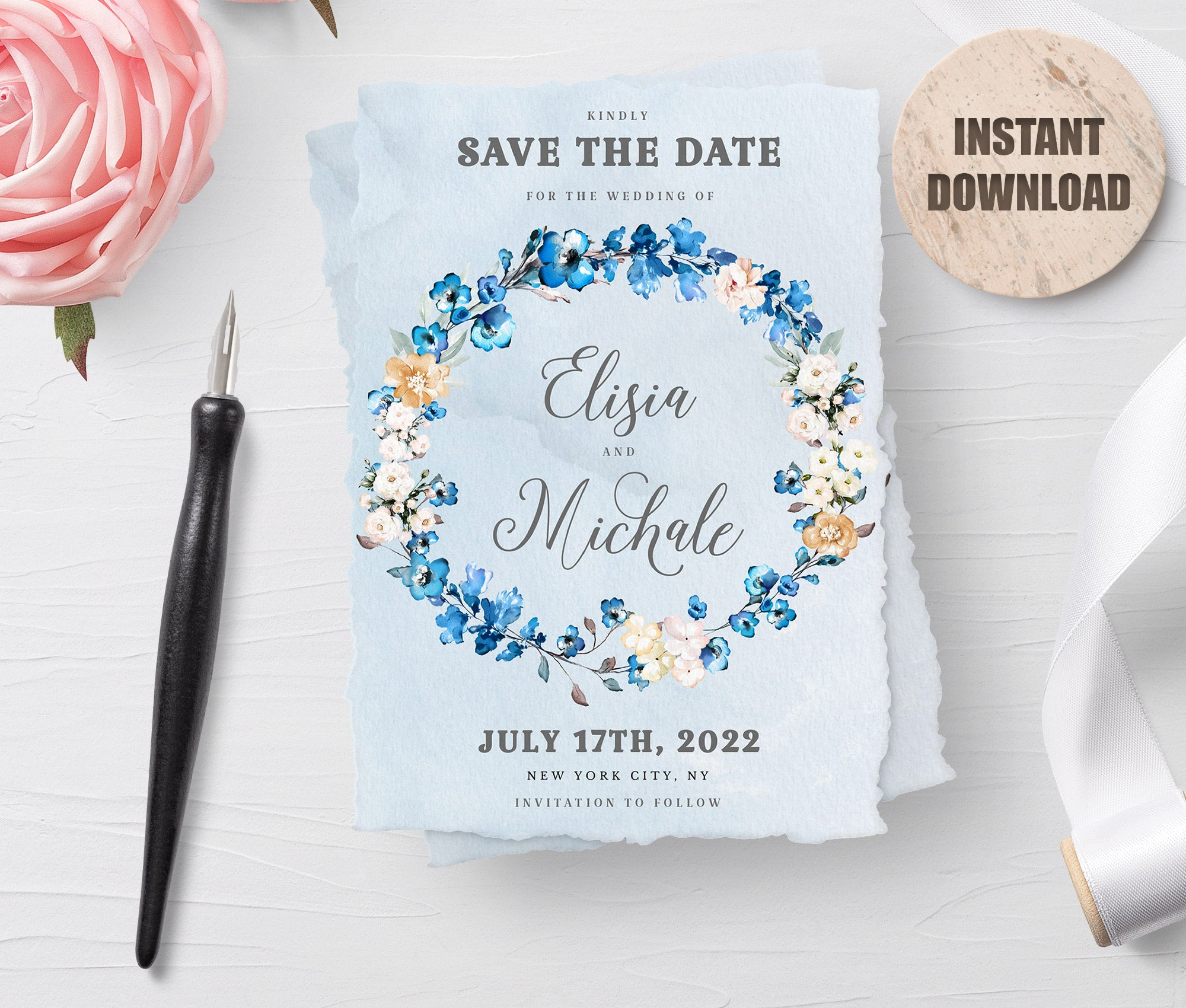 MELLY - Printable Save the Date Card 2