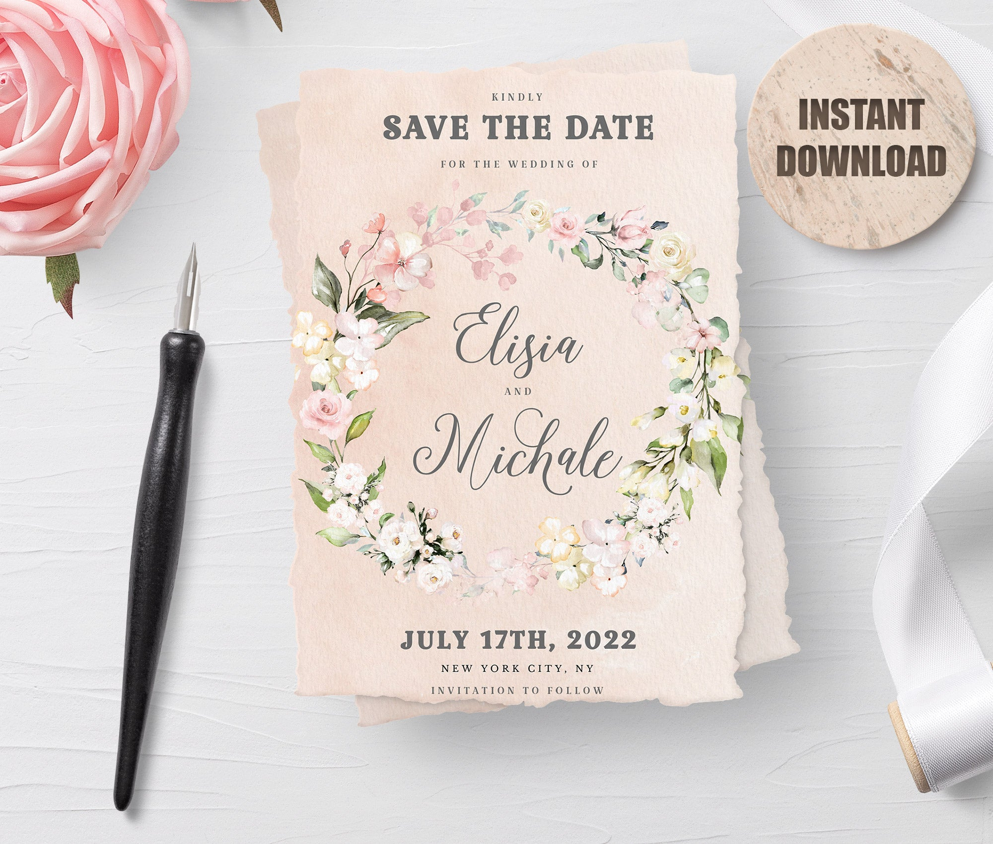 LOVAL Printable Save the Date Card set 5