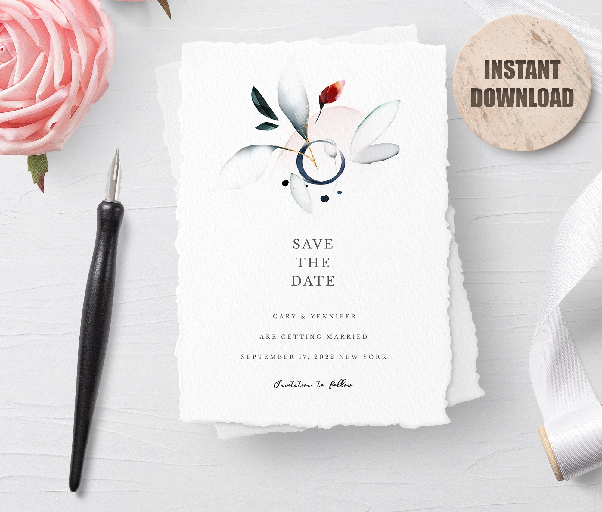 SPMR - Printable Save the Date Card set 6 - Greenlanderdesign