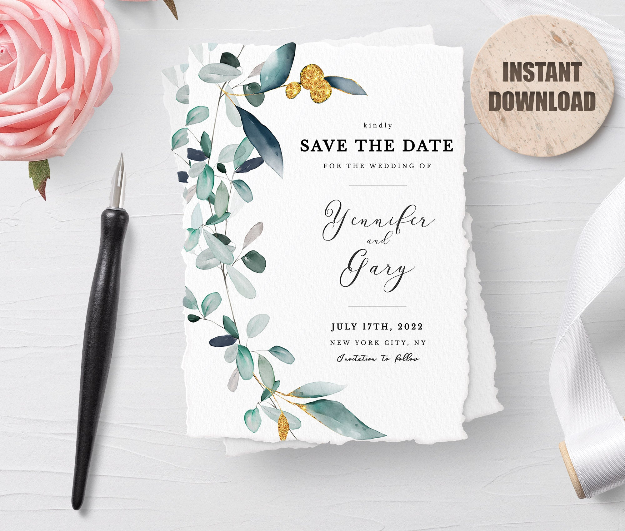 SPMR - Printable Save the Date Card set 7 - Greenlanderdesign
