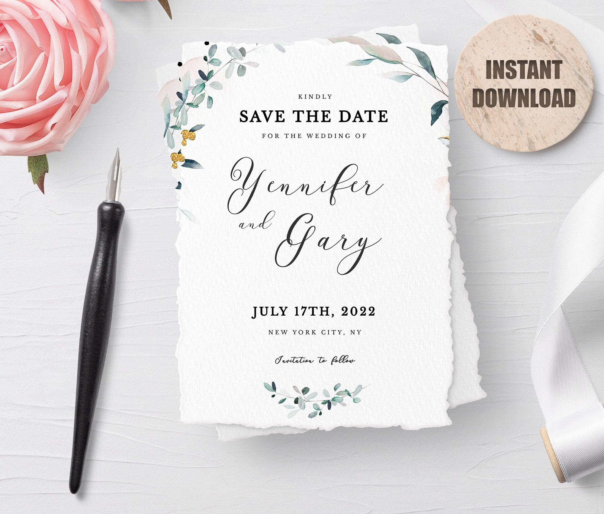 SPMR - Printable Save the Date Card set 3 - Greenlanderdesign