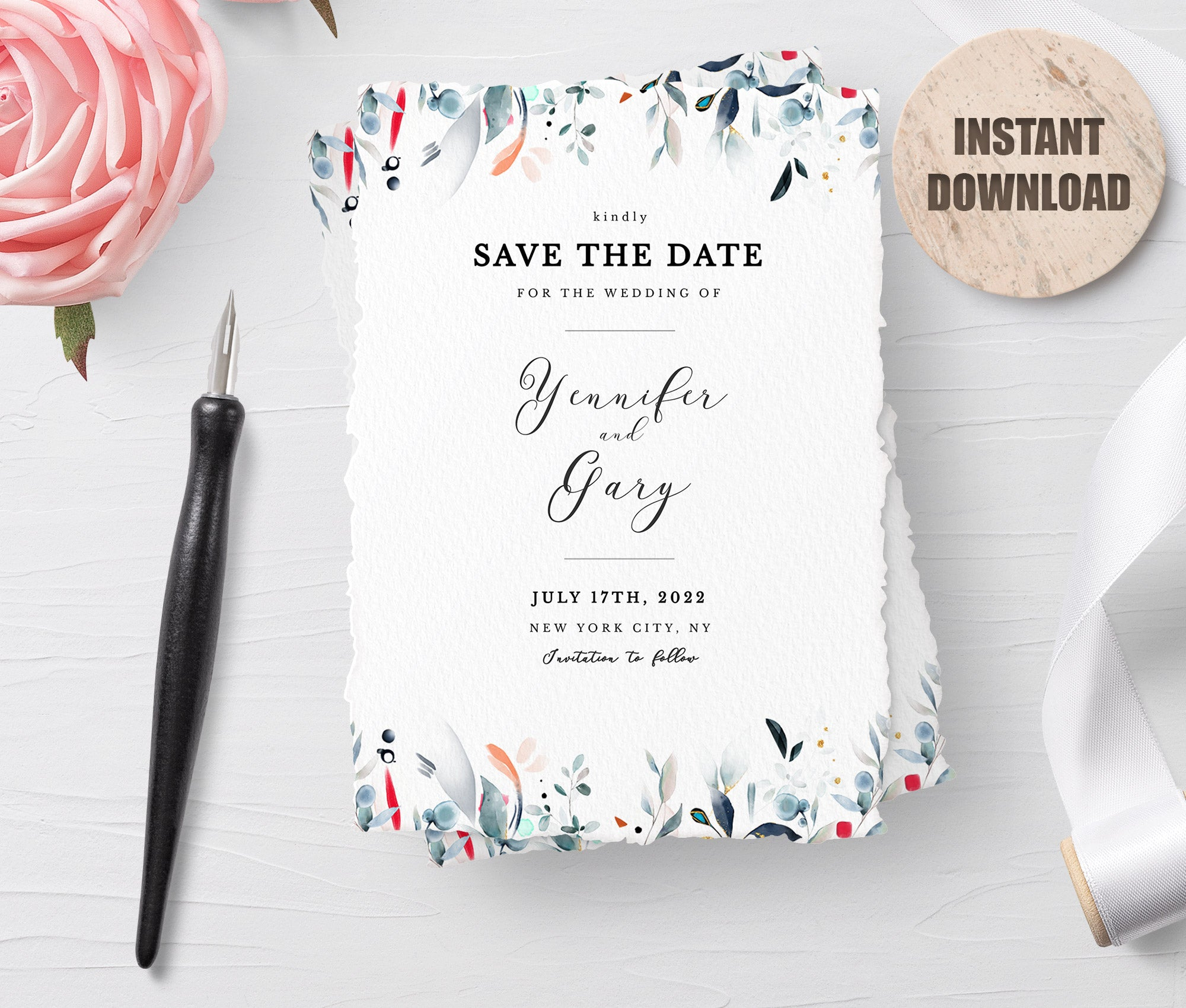 SPMR - Printable Save the Date Card set 8 - Greenlanderdesign