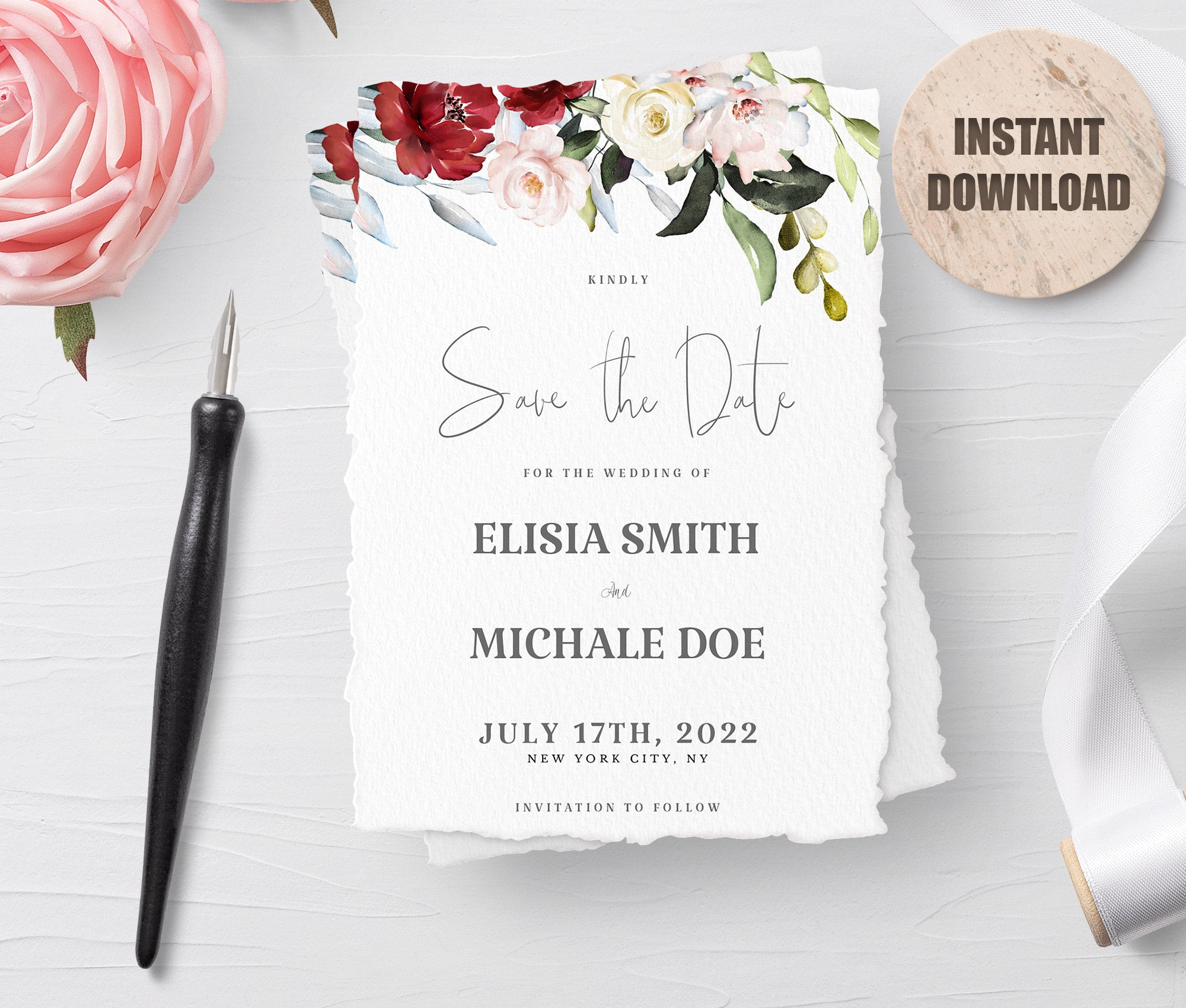 LOVAL Printable Save the Date Card set 2
