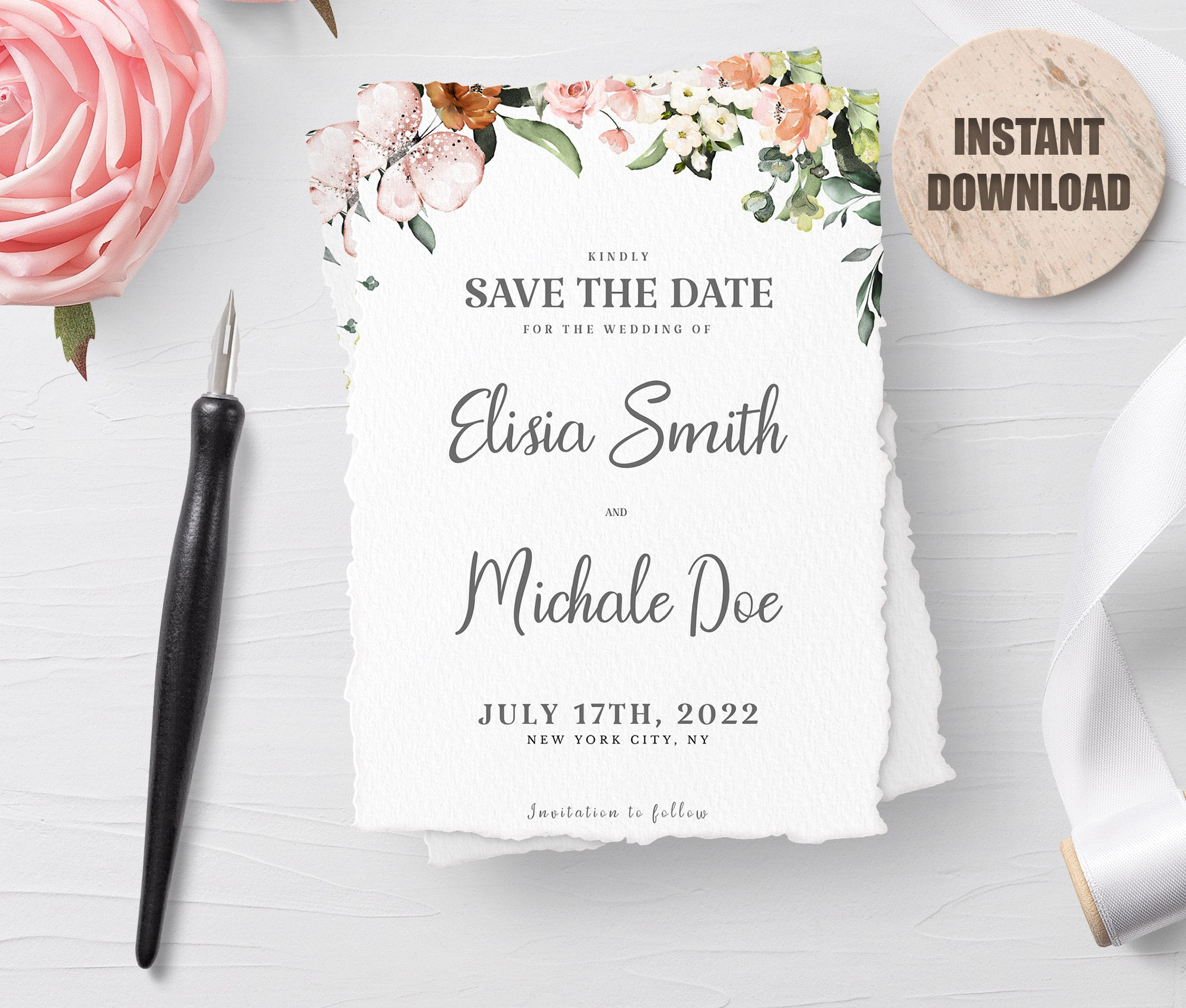 LOVAL Printable Save the Date Card set 3