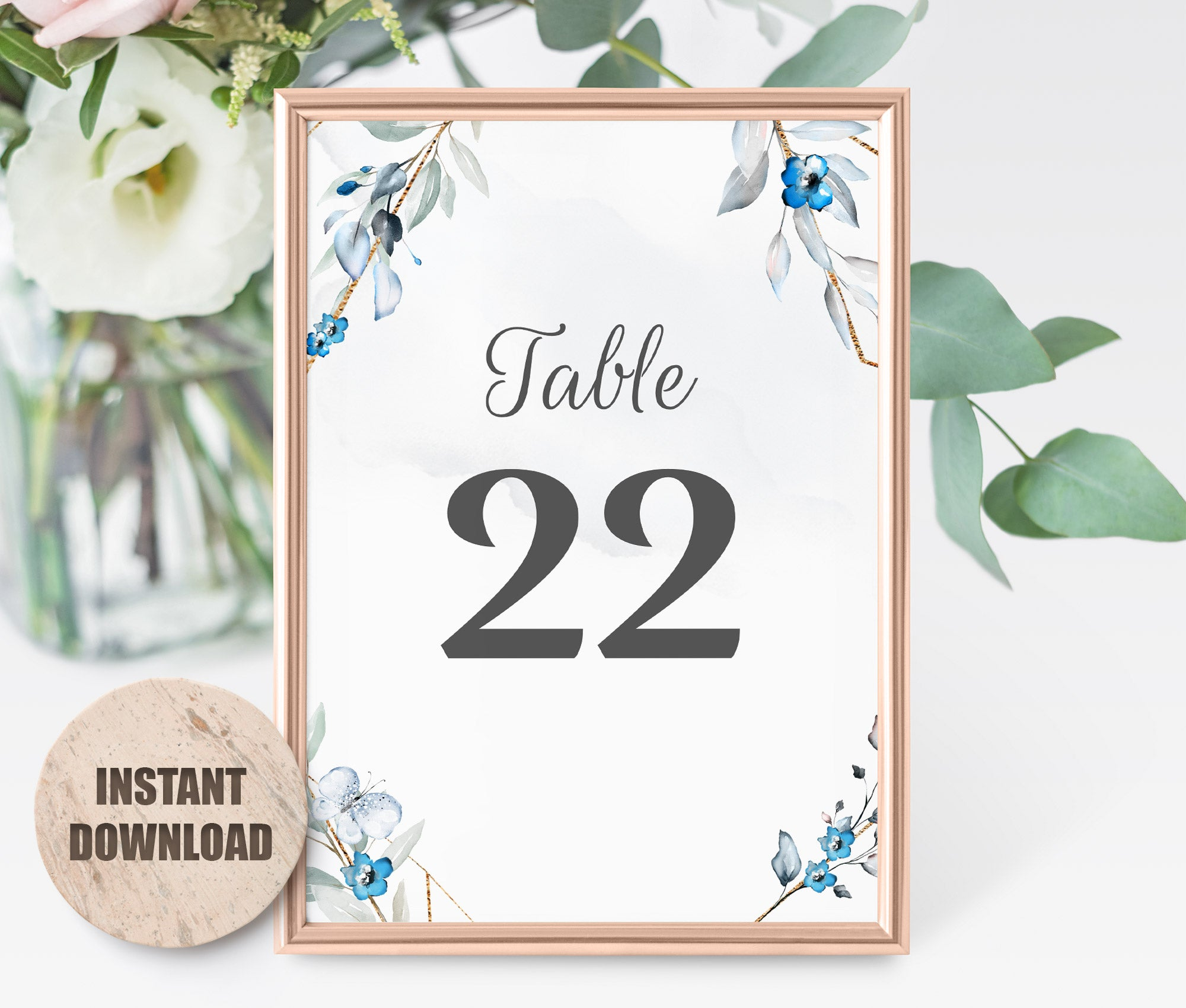MELLY Table Number card Template