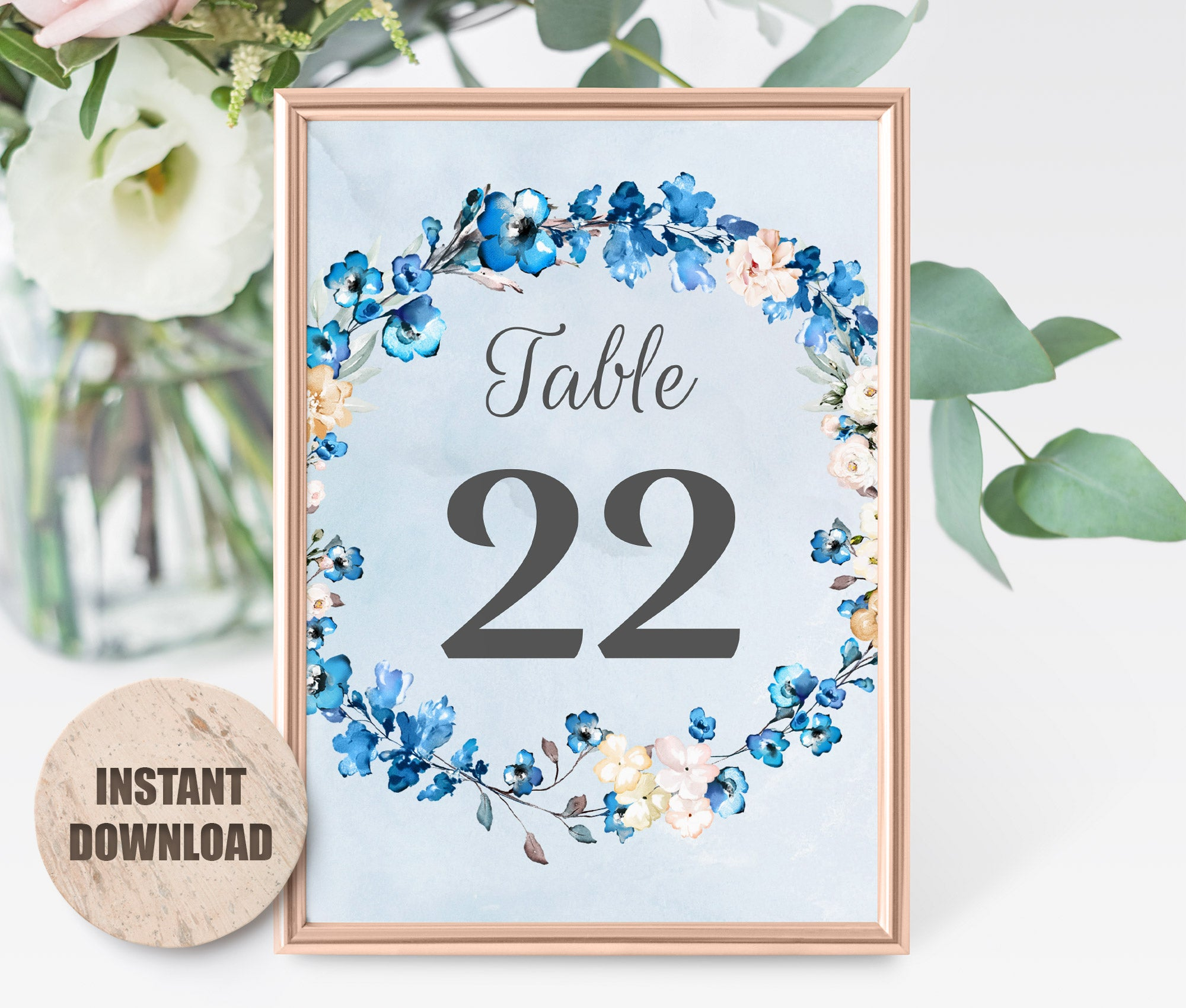 MELLY Table Number card Template 2