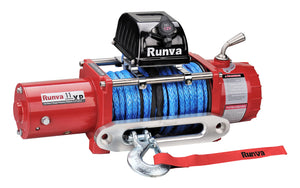 Runva 11XP 24V with Synthetic Rope - IP67 Motor (RED)