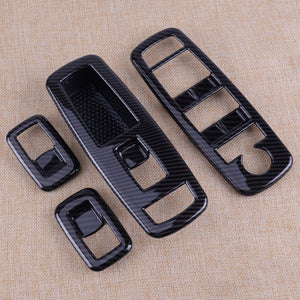 Carbon Fibre Window Switch Panel Cover Trim Fit For Ram 1500 2014-19 4th Gen