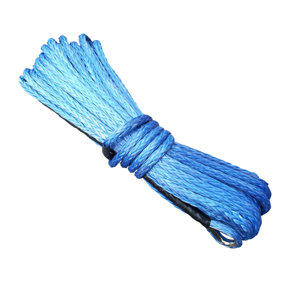 Synthetic Winch Rope - 40M x 8MM (BLUE)