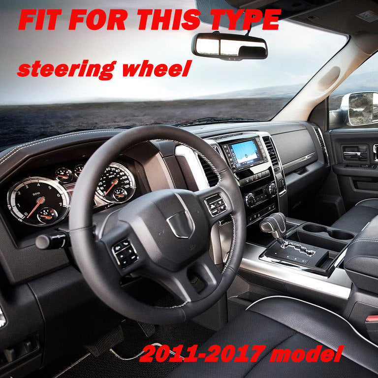 Carbon steering wheel Cover trims for 2014-2018 Dodge RAM 1500 2500