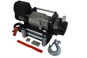 Carbon Winch 12V 17000lb Heavy Duty Series winch with steel cable