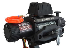 Carbon 9.5K 9500lb High Speed Electric winch with steel cable