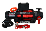 Carbon 9.5K 9500lb High Speed Electric winch with synthetic rope