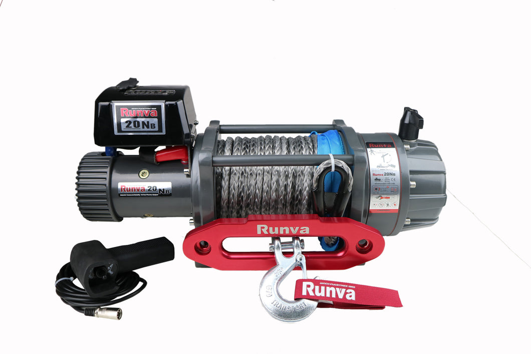 Runva EWB20000 PREMIUM 12V with Synthetic Rope - full IP67 protection