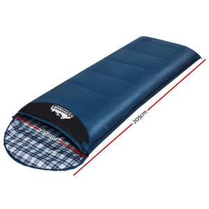 Sleeping Bag Single Camping Hiking -5°C to 20°C Tent Winter Thermal Navy