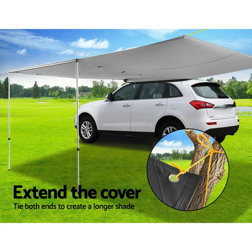 Weisshorn Car Shade Awning Extension 3 x 2m - Grey