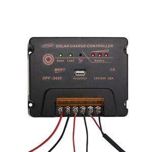 MPPT Solar Charge Controller Solar Panel Battery Regulator 12-24V 20A With USB