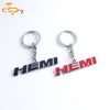Car key chain HEMI 3D Metal Key Ring Car Emblem-Badge Logo-Tags Nameplate for RAM 1500 2500 3500 Jeep Dodge Challenger