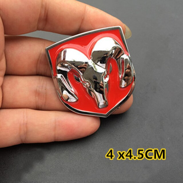 3d Ram Metal Badge for Dodge RAM 1500 2500 3500 Challenger Charger Durango Nitro Journey Caliber Sticker Car Exterior Decoration