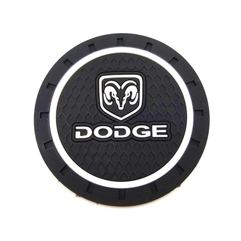 1pcs Car-Styling PVC Car non-slip coaster Mat Case For Dodge Challenger RAM 1500 Charger Avenger Caliber Nitro Auto Accessories