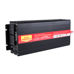Pure Sine Wave 3000w Max 6000w 12v-240v Power Inverter Car Caravan Camping Boat