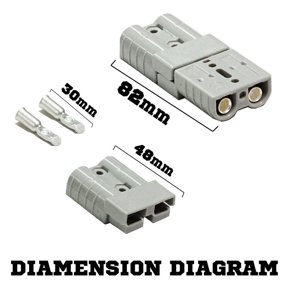 10X 50 AMP Anderson Power Plug Dust Cap Cover Battery Caravn Solar Connector