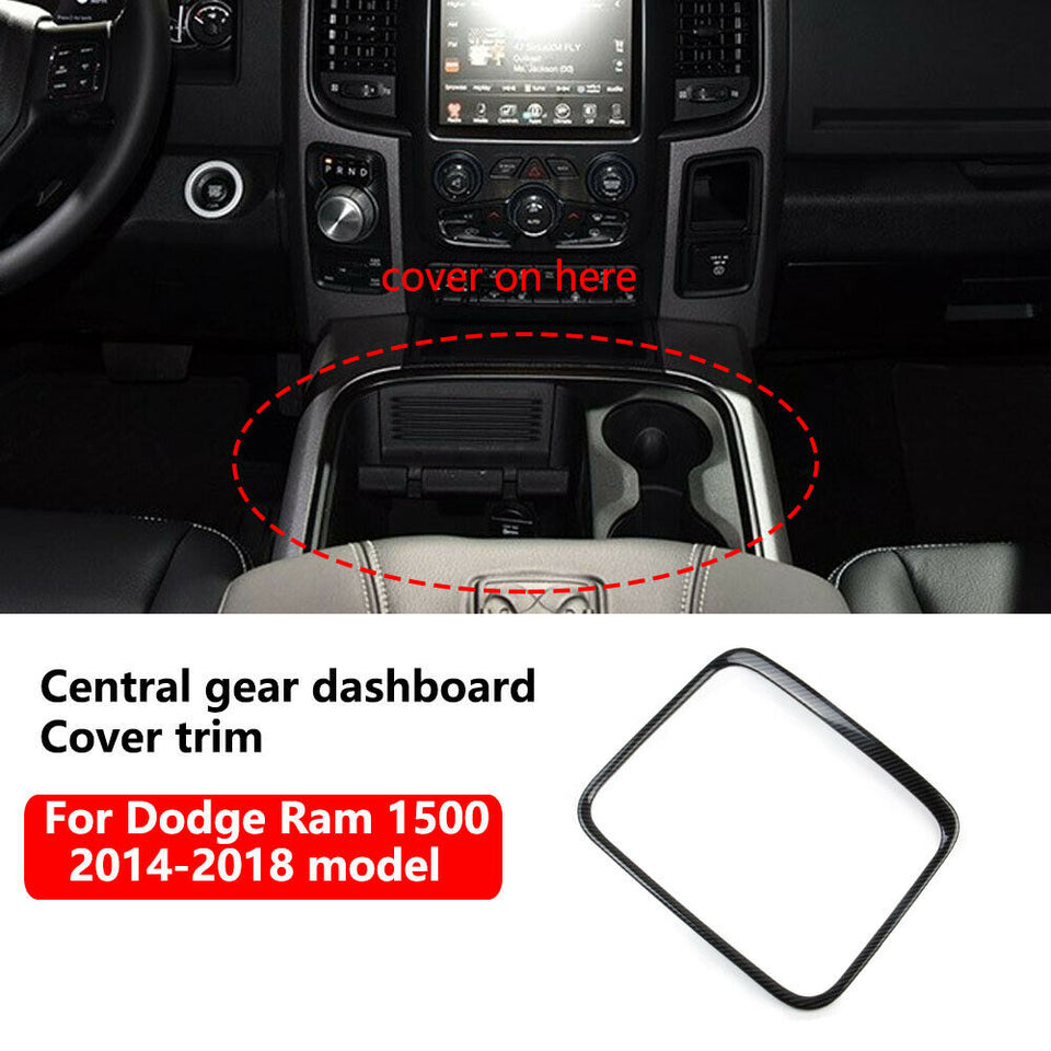 Carbon fibre Central console dashboard Cover for 2015-2017 Dodge RAM 1500 2500