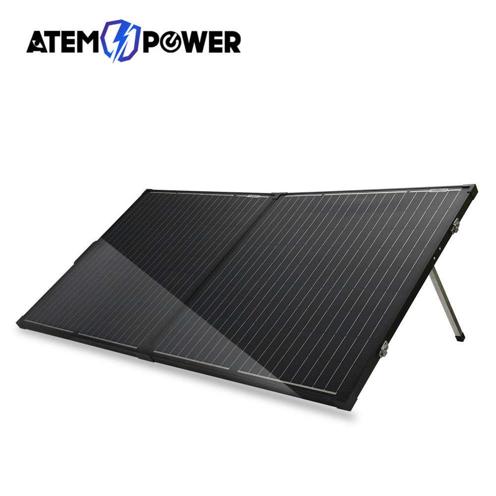 12V 200W Folding Solar Panel Kit Mono Caravan Boat Camping charging ATEM POWER