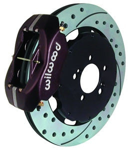 Wilwood Dynalite Big Brake Front Hat Kits 02-06 Rsx Black Caliper D/S Rotors 140-7014-D
