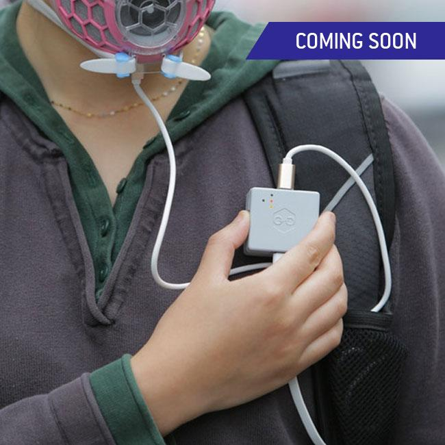 Air filter mask with sensor that detects the level of pollutants and provides specific, up-to-the-minute information.