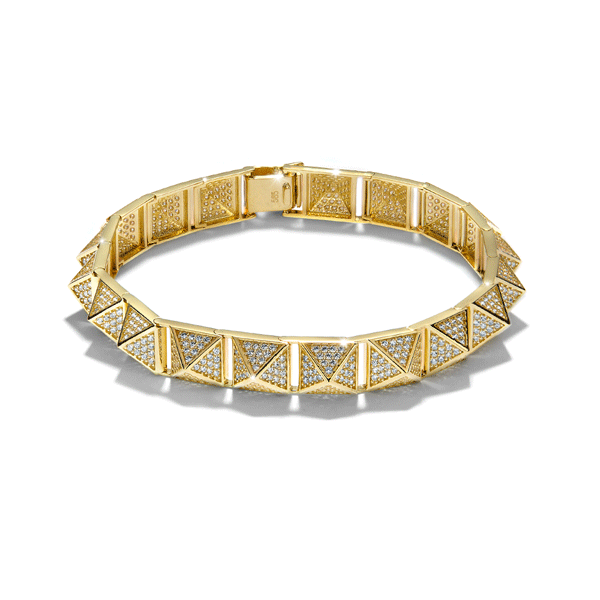 14ct Gold Cubic Zirconia Jewellery Bracelet