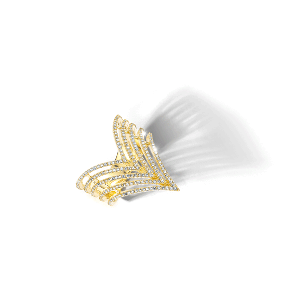 14ct Gold Cubic Zirconia Jewellery Ring